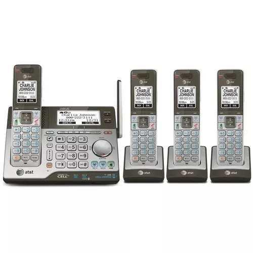 Telefonos Inalambricos Att Con 3 Extenciones Y Doble Teclado