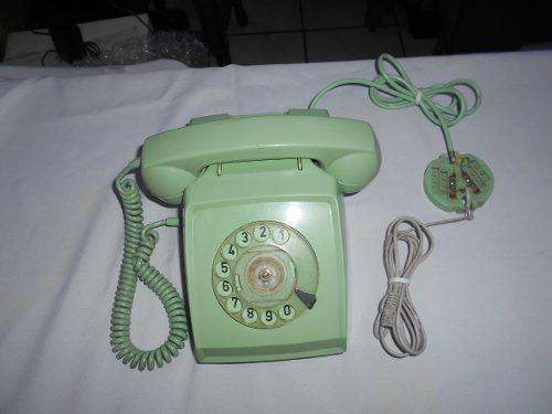 Viejo Teléfono De Disco Indetel Funciona Color Pistache