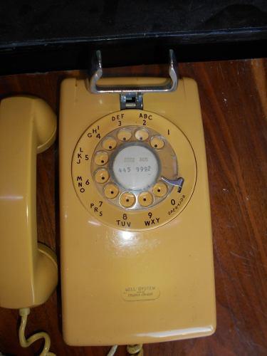 Viejo Teléfono De Disco Western Electric Hecho En Usa