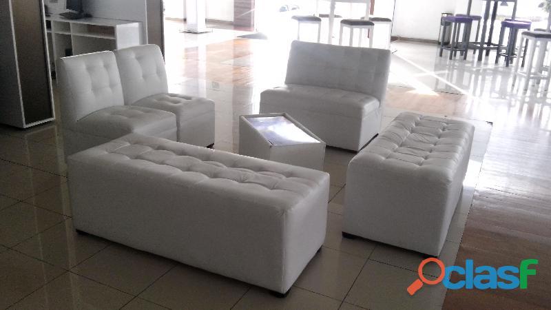 salas lounge en renta con mesa de centro iluminada ecatepec
