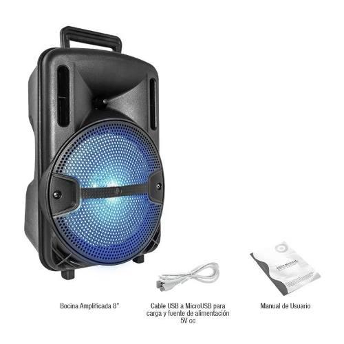 Bocina Amplificada Bluetooth 8 Pulgadas Recargable Bytek Usb