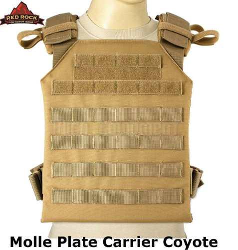 Chaleco Táctico Porta Placa Coyote Cafe Tan Redrock 11 X 14