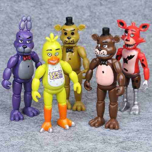 Five Nights At Freddy's Colección De 5 Figuras Flexibles