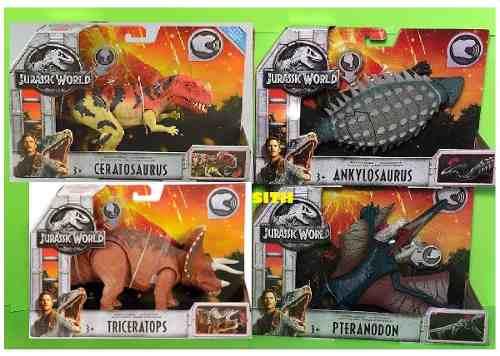 Jurassic World Set De 4 Dinosaurios Con Sonido Rugidos Raros