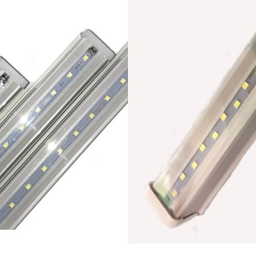 30 Regletas Led Con Base Integrada Blanca 18w Alta Potencia