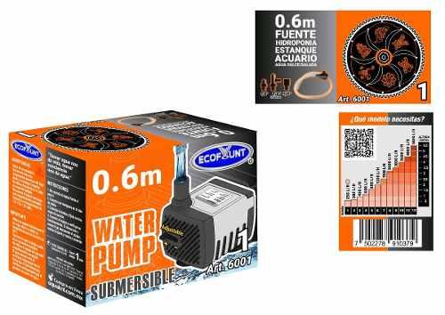 Bomba De Agua Mini Sumergible Acuario Fuente 0.60m