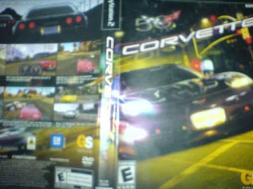 Corvette 50 Aniversario Juego Play 2 Carreras Linea Negra