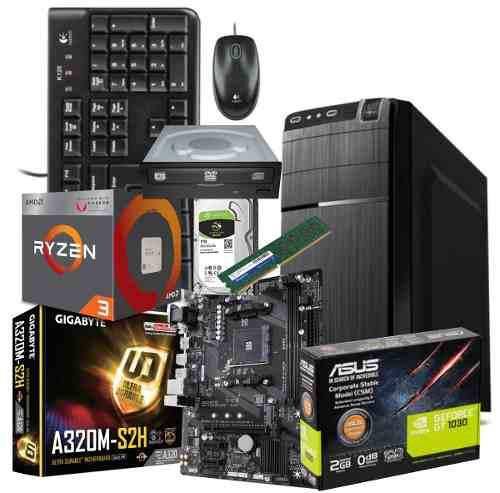 Cpu Diseño Pro Amd Ryzen 2200g 3.5 1t, 8gb, Gt1030 2gb Ddr5