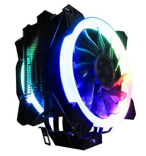 Disipador Cpu Cooler Rgb Iceberg Dual Fan Pwm Intel Y Ryzen