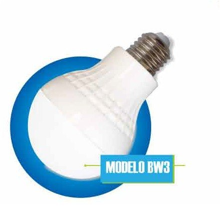 Foco Led 3w E26 E27 A19 Lampara Bulbo Globo Blanco Frio