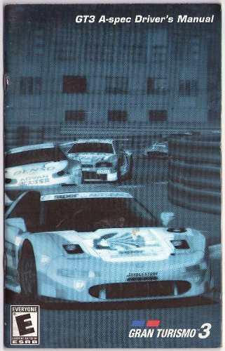 Gran Turismo 3 A Spec Playstation 2 Ps2 Solo Manual Original
