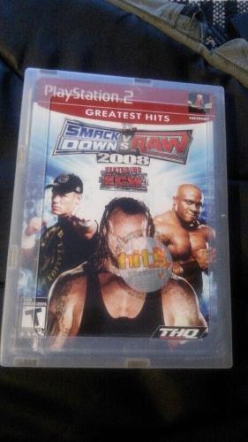 Juego Nuevo Ps2 Smack Down Vs Raw 2008