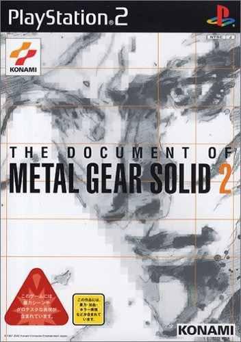 Juegos,el Documento De Metal Gear Solid 2 Japan Import..