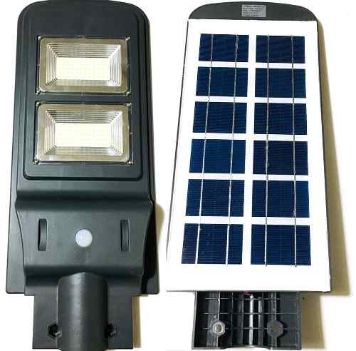 Lampara De Alumbrado Público Con Panel Solar 40w Luz Blanca
