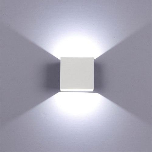 Lampara Led Moderna, De Pared O Techo, Elegante, Blanco