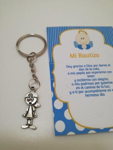 Llavero Niñito Baby Shower Bautizo Incluye Celofan Y