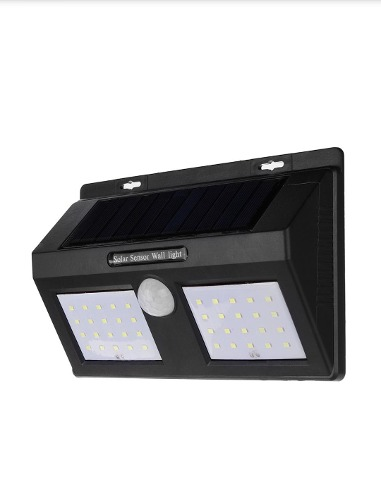 Lámpara Doble Solar Con Sensor De Movimiento 40 Led