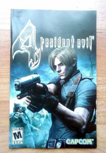 Manual Y Estuche/portada De Resident Evil 4 Ps2, Originales