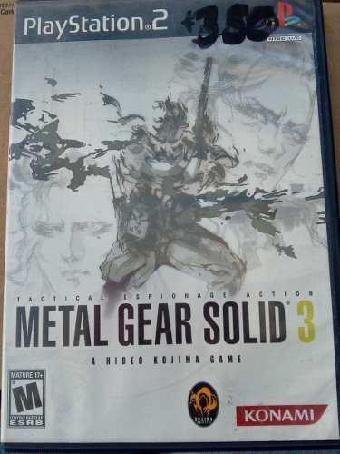 Metal Gear Solid 3 Videojuego De Ps2