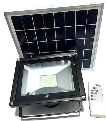 Reflector Panel Solar Led 20w Exterior Ip66 Megaluz Aluminio