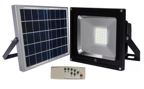 Reflector Panel Solar Led 30w Exterior Ip66 Megaluz Aluminio