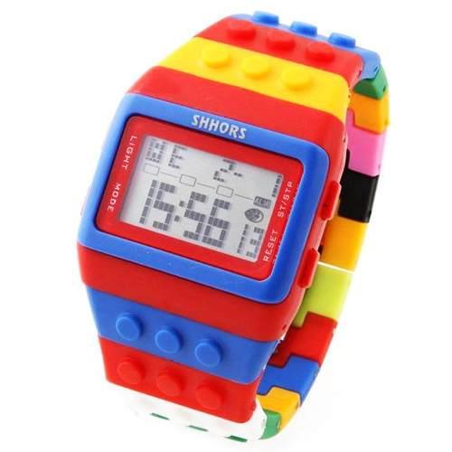 Reloj Bloques Niños Digital Led Deportivo Multicolor Niñas