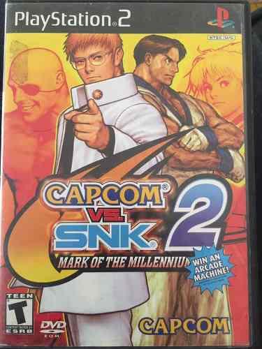 Videojuego Capcom Vs Snk 2 Mark Of The Millennium Para Ps2