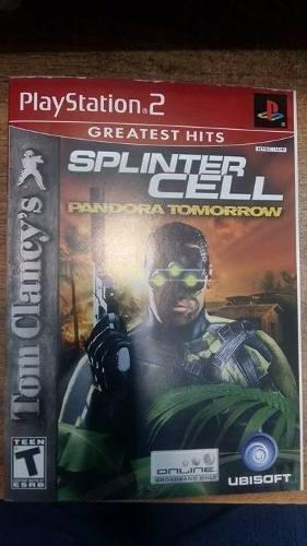 Videojuego Para Ps2 Splinter Cell Pandora Tomorrow