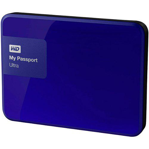 Disco Duro Externo 2tb Western Digital My Passport Rojo Azul