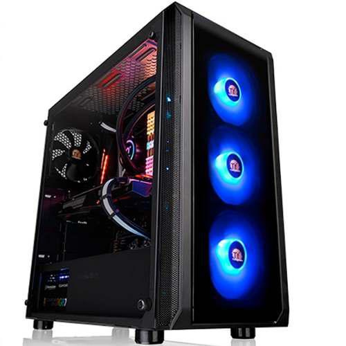 Gabinete Gamer Thermaltake Versa J23 Rgb Cristal Templado