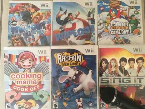 6 Juegos De Wii En Muy Buenas Condiciones