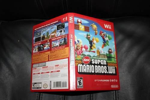 Caja Custom De New Super Mario Bros Wii (solo Es La Caja)