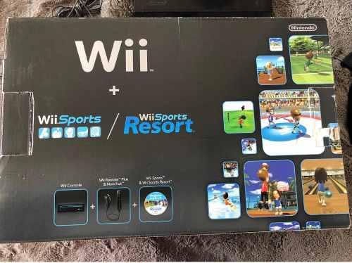 Consola Wii Negra Usada +3 Juegos