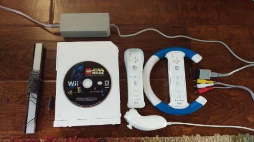 Nintendo Wii Completo Con Dos Controles Y Un Juego
