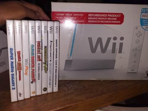 Nintendo Wii, Con Dos Controles Y 8 Juegos