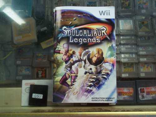 Soul Calibur Legends Nintendo Wii Solo Manual O Instructivo