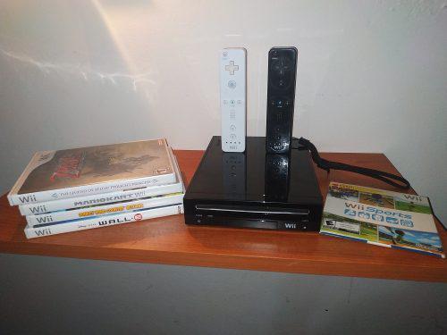 Wii + 2 Controles + 5 Juegos Originales