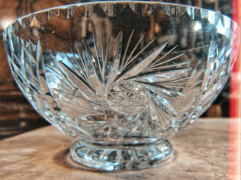 Centro de mesa en cristal cortado