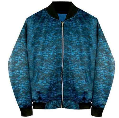 Chamarra Bomber Jacket Cierre Azul Y Negro Moda Envio Gratis