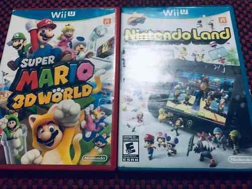 Combo Wii U Súper Mario 3d Y Nintendo Land Usados