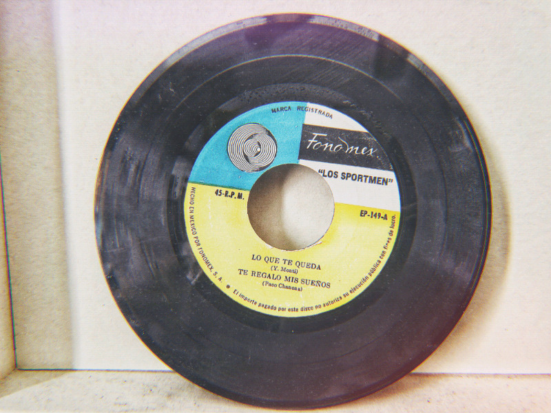 Disco EP 45 rpm vinil acetato los sportmen lo que te queda