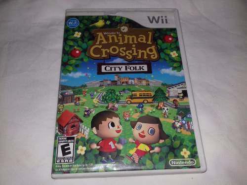 Juego Animal Crossing City Folk Nintendo Wii O Wii U