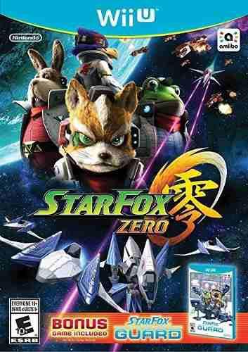 Nintendo Wii U. Star Fox Zero + Guard + Falco Amiibo Card.