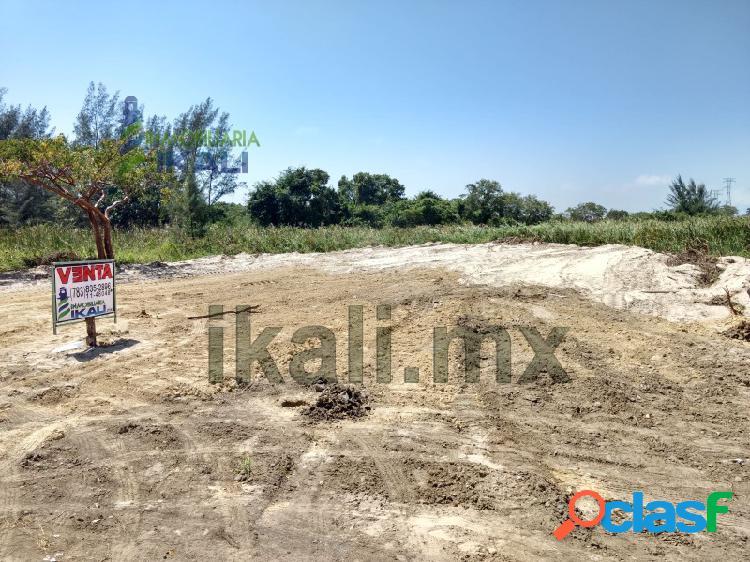 Venta Terreno 2025 m² playa Tuxpan Veracruz, La Barra Norte