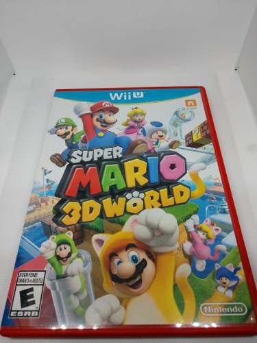 Wii U Super Mario 3d World (100% Impecable Manual Y Disco)