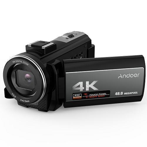 Cámara Vídeo Digital Andoer 4k, Videocámara Ultra Hd 48mp