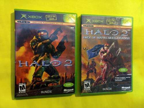 Halo 2 Y Halo 2 Pack De Mapas Xbox Clasico