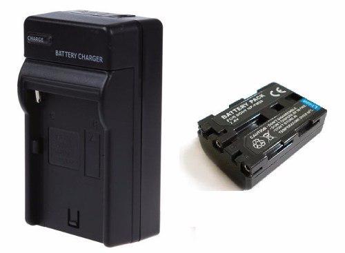 Pack Cargador + 1 Bateria Np-fm50 Para Videocamara Sony