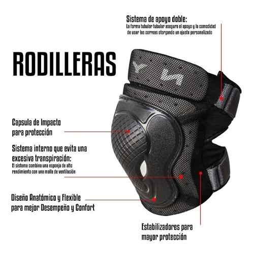 Rodilleras Para Moto, Coderas Y Muñequeras Deportivas 6 Pzs