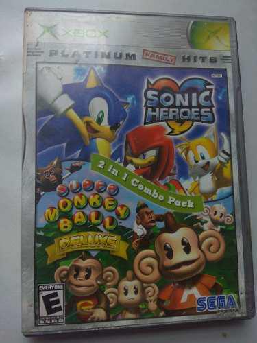 Sonic Heroes + Super Monkey Ball Deluxe Xbox Clasico